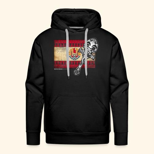 Casse tête polynésien & Drapeau - Sweat-shirt à capuche Premium pour hommes