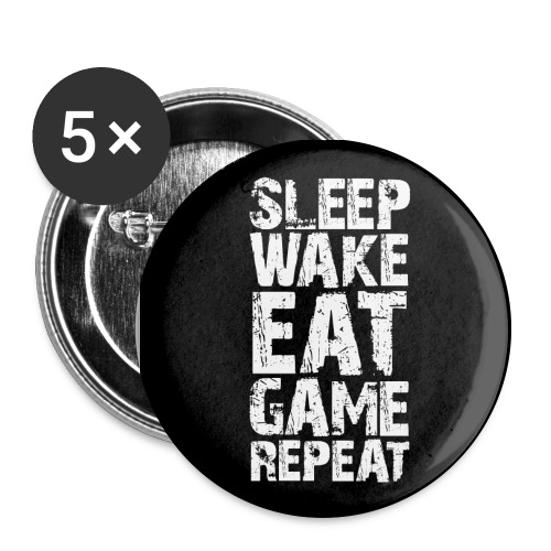 Gaming Addict's Mantra - 2.25 button - Buttons large 2.2''/56 mm(5-pack)