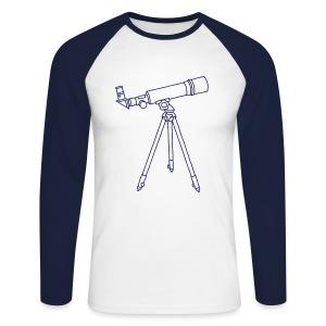 Teleskop - Männer Baseballshirt langarm
