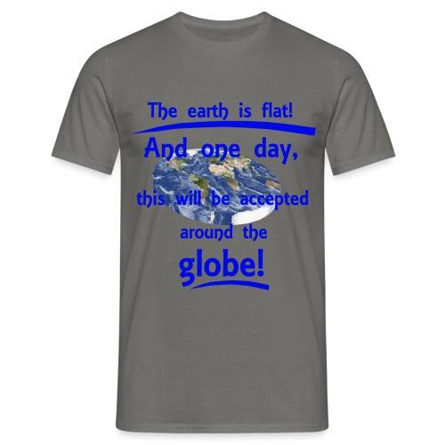 T-Shirt Flat earth für Männer - Männer T-Shirt
