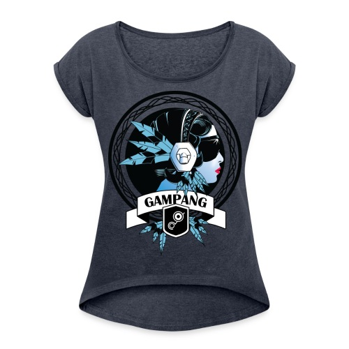 Modern Fashion - Vrouwen T-shirt met opgerolde mouwen