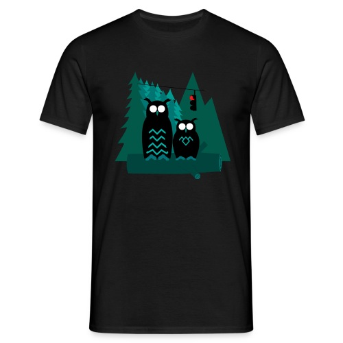 Twin Owls - T-shirt herr