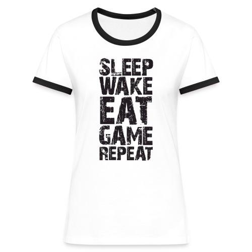 Gaming Addict Tee - long-sleeved raglan - Women's Ringer T-Shirt