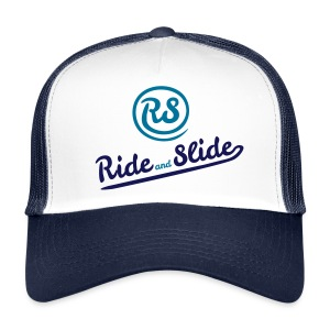 Cap white blue RS blues - Trucker Cap