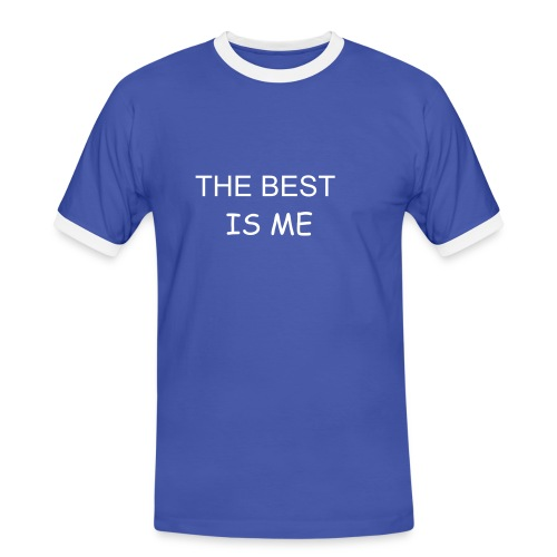 TEE SHIRT HOMME  THE BEST IS ME  - T-shirt contrasté Homme