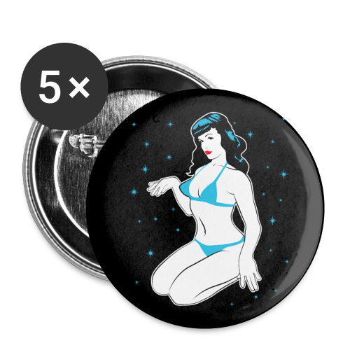 Pin up tribute - Badge petit 25 mm