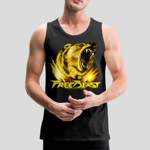 VINRECH CLOTHING - FREE BEAST - GRIZZLI GOLD - Débardeur noir sport homme - Débardeur Premium Homme