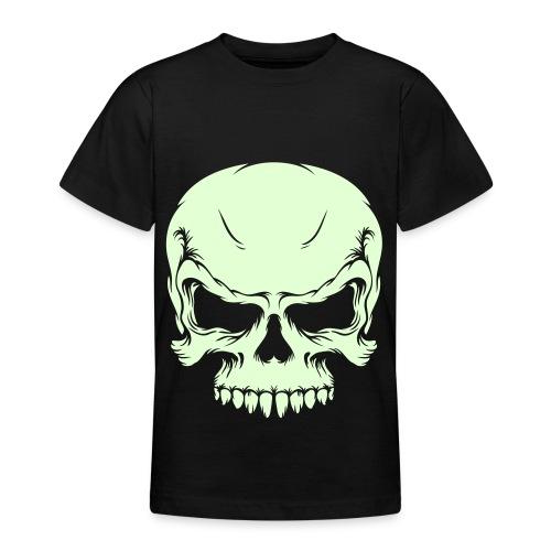 Calavera fluorescente para bebe - Camiseta adolescente