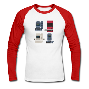 Japanese Computers - Men's Long Sleeve Baseball T-Shirt