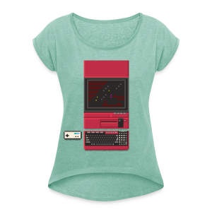 Japanese Computer X1 - Women's T-shirt with rolled up sleeves