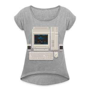Japanese Computer X68000a - Women's T-shirt with rolled up sleeves