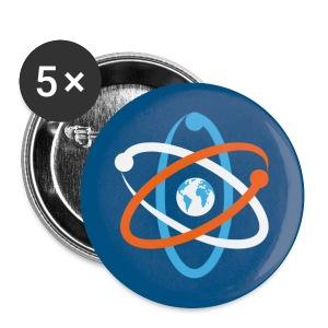 March for science - 5 Buttons blau, groß - Buttons groß 56 mm