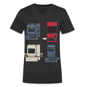 Japanese Computers - Men's Organic V-Neck T-Shirt by Stanley & Stella