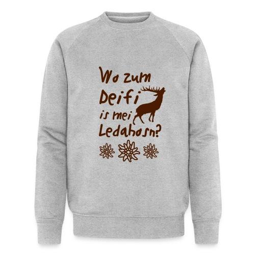 Wo zum Deifi is mei Ledahosn? - Männer Bio-Sweatshirt von Stanley & Stella