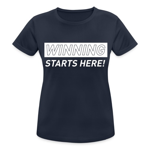 WINNING STARTS HERE –  running women's gym t-shirt - Women's Breathable T-Shirt