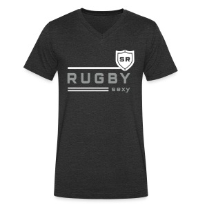 Tee Shirt Rugby - T-shirt Homme col V