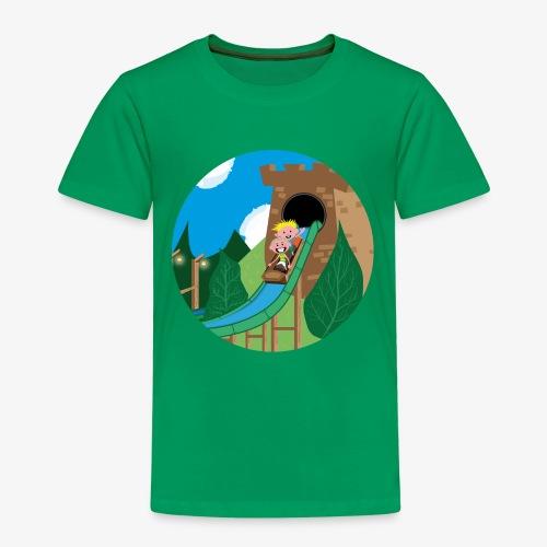 Pretparken: Boomstammen wildwaterbaan - Kinderen Premium T-shirt