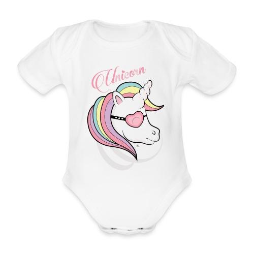 "Body Unicorn"" - Body bébé bio manches courtes"