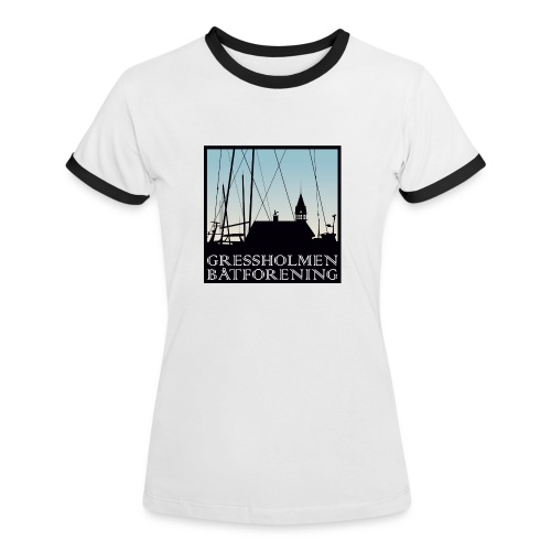 Kontrastskjorte - Kontrast-T-skjorte for kvinner