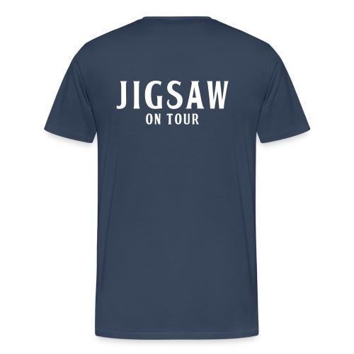 JigSaw On Tour Man Navi White - Men's Premium T-Shirt