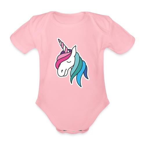 OMG Unicorn – Babybody - Baby Bio-Kurzarm-Body