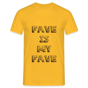 Fave is my Fave T-Shirt : yellow - Men's T-Shirt