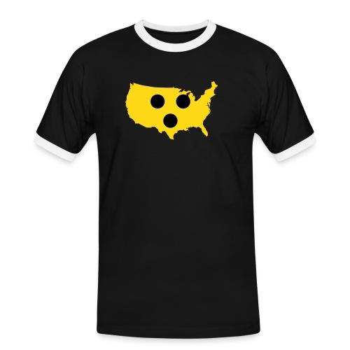 USA Blind - Männer Kontrast-T-Shirt