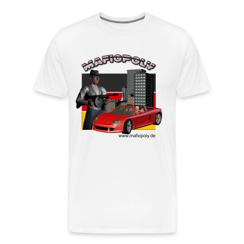 Mafipoly Männer Premium weiß - Männer Premium T-Shirt