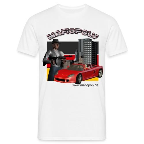Mafipoly Männer weiß - Männer T-Shirt