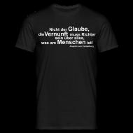 T-Shirts ~ Männer T-Shirt ~ Glaube und Vernunft