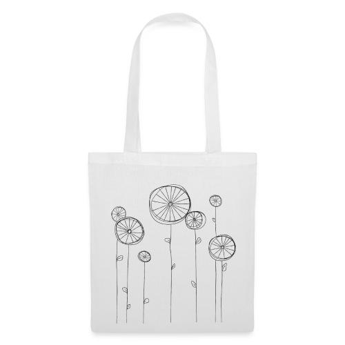 Radblumen, helle Tote Bag - Stoffbeutel