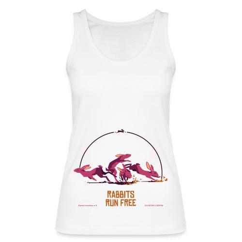 Run free, weiß, Tanktop Frauen - Frauen Bio Tank Top von Stanley & Stella