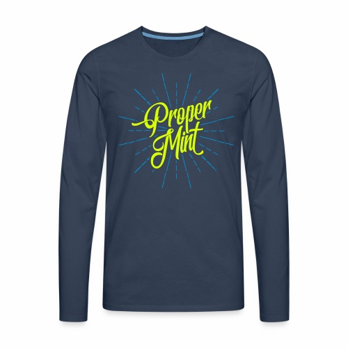 Proper Mint Men's Long Sleeve T-Shirt - Men's Premium Longsleeve Shirt