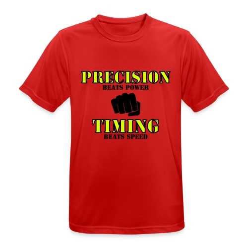 Pecision beats Power - Timing beats Speed - Herre T-shirt svedtransporterende