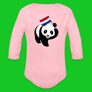 Nederlandse Panda romper - Baby bio-rompertje met lange mouwen