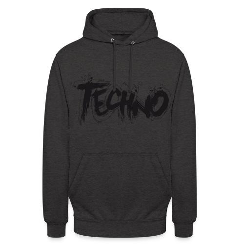 Techno  Hoodie Grey Unisex - Unisex Hoodie