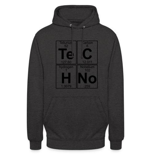 Techno Chemical  Hoodie Grey Unisex - Unisex Hoodie
