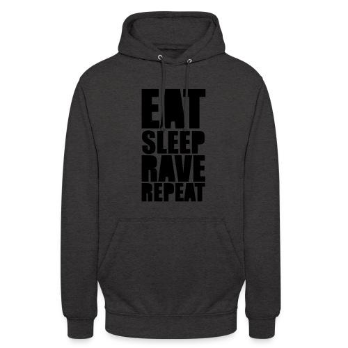 Techno Eat Sleep Rave Repeatl  Hoodie Grey Unisex - Unisex Hoodie