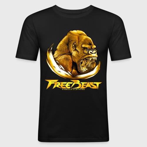 VINRECH CLOTHING - FREE BEAST - GORILLA GOLD - T-shirt Homme - T-shirt près du corps Homme