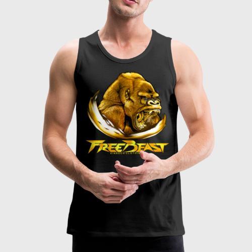 VINRECH CLOTHING - FREE BEAST - GORILLA GOLD - Débardeur Homme - Débardeur Premium Homme