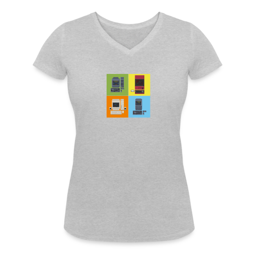 Japanese Computers - Women's Organic V-Neck T-Shirt by Stanley & Stella