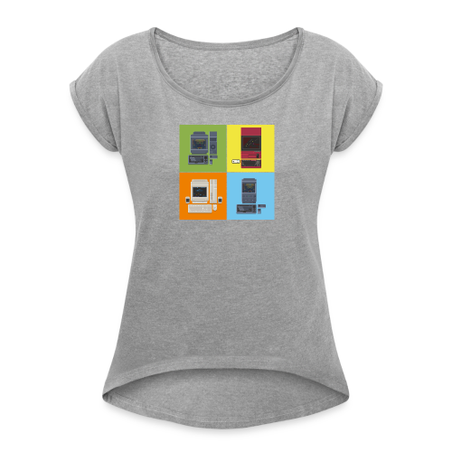 Japanese Computers - Women's T-shirt with rolled up sleeves