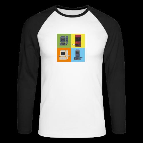 Japanese Computers - Men's Long Sleeve Baseball T-Shirt