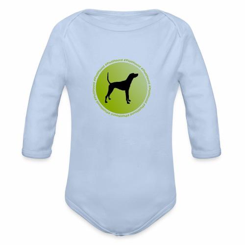 Plott Hound - Baby Bio-Langarm-Body