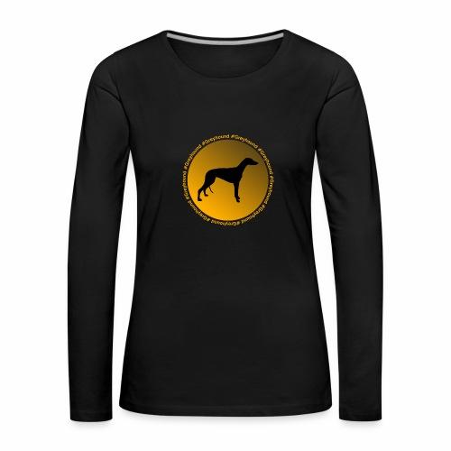 Greyhound - Frauen Premium Langarmshirt