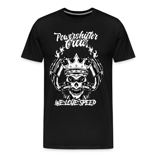 T-Shirt with crazy skull - Männer Premium T-Shirt