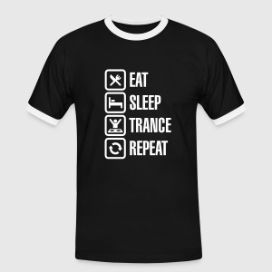 Eat Sleep Trance Repeat T-shirts - Mannen contrastshirt