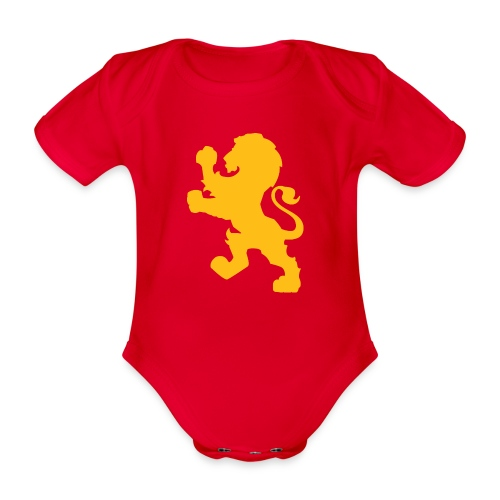 Baby Captain Britain - Organic Short-sleeved Baby Bodysuit