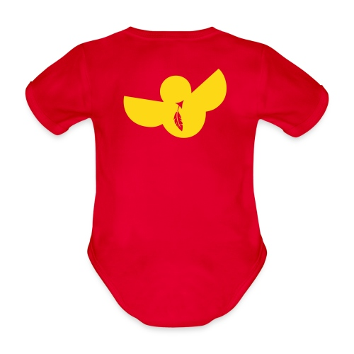 designbar.baby_fluffy - Organic Short-sleeved Baby Bodysuit
