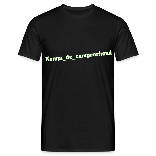 Kempi_de_campeerhond T-shirt - Glow in the dark tekst - Mannen T-shirt